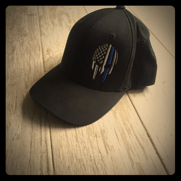 flexfit Accessories - Relentless Defender Hat (thin blue line) e71f0568df1e